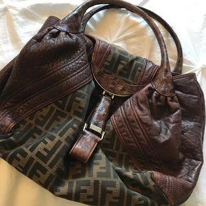 FENDI Zucca Nappa Tortoise Spy Bag